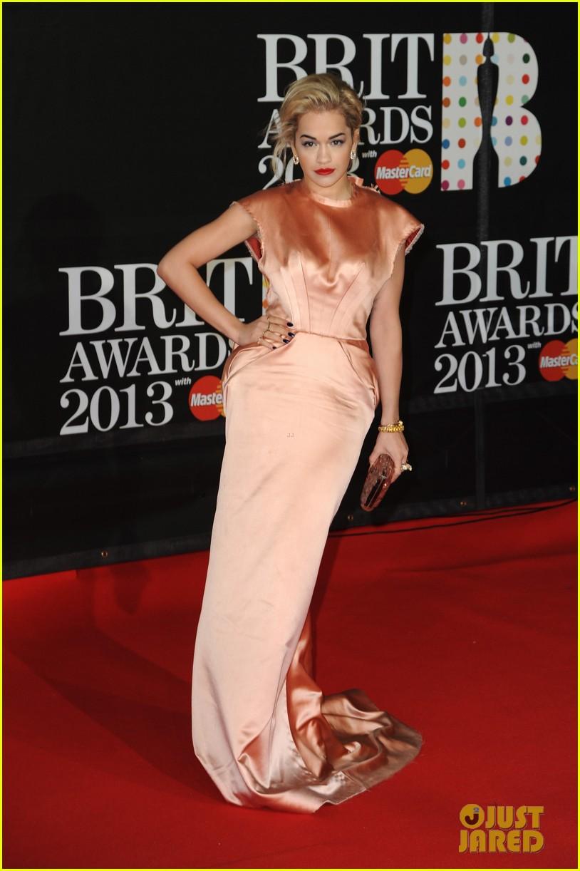 rita ora brit awards 2013 red carpet 012815820