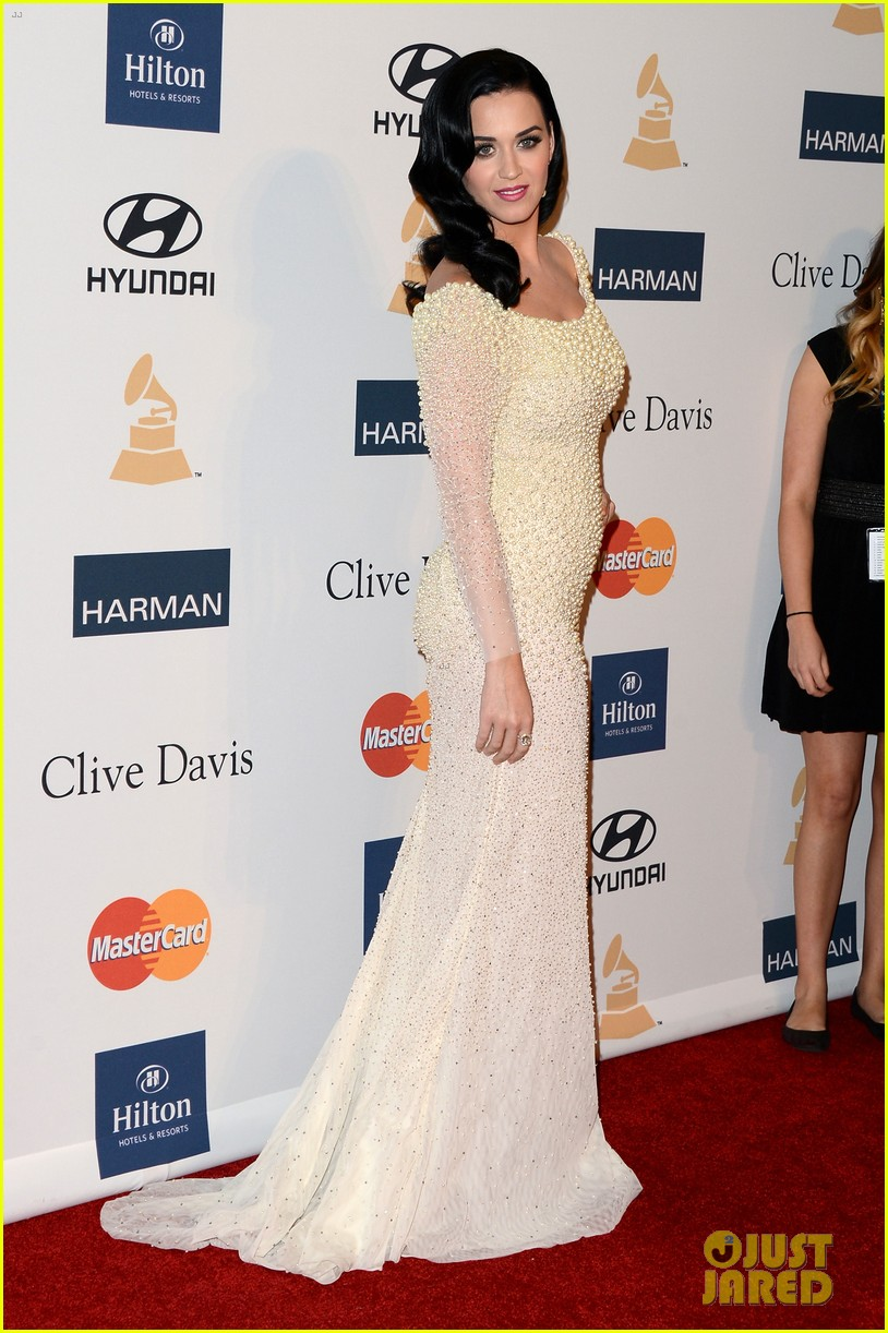 katy perry john mayer clive davis pre grammy party 2013 01