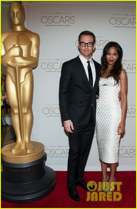 chris pine zoe saldana academy tech awards 2013 13