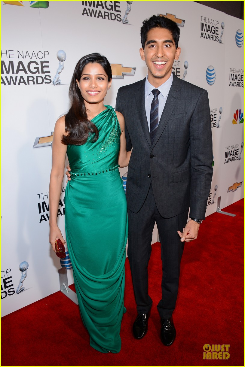 freida pinto dev patel naacp image awards red carpet 2013 11