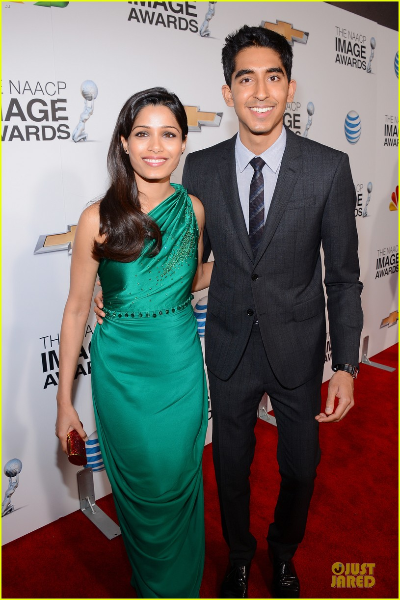freida pinto dev patel naacp image awards red carpet 2013 14