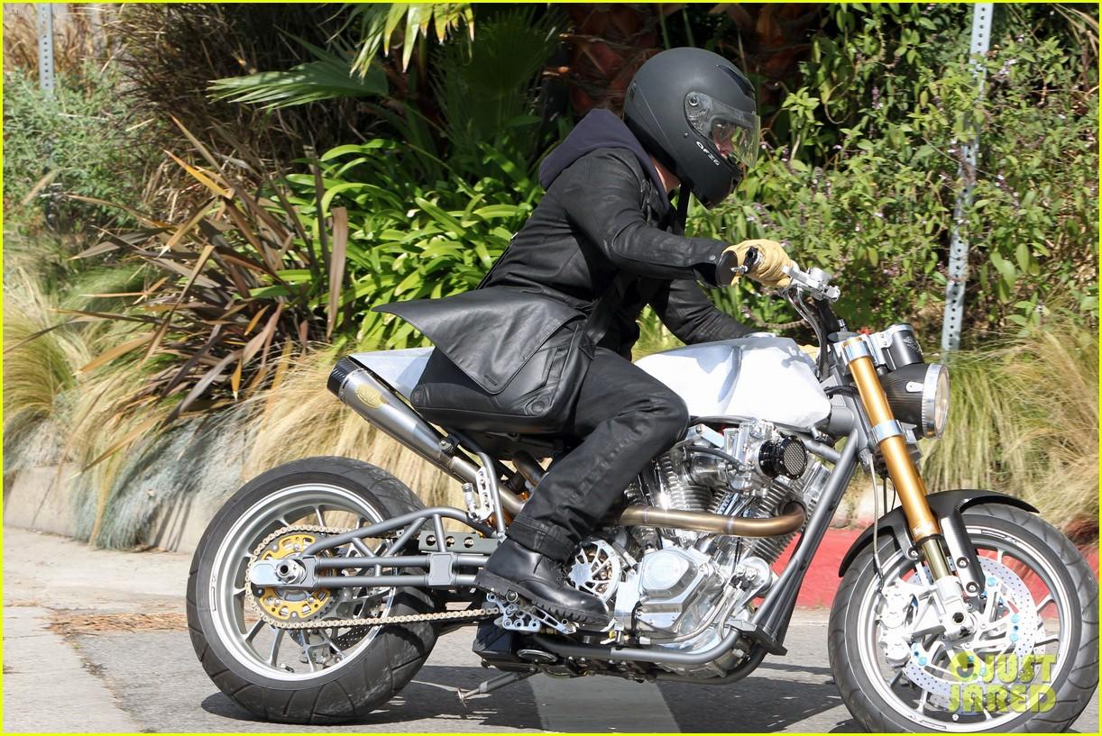 brad pitt rides his motorcycle shiloh zahara get froyo 182816584