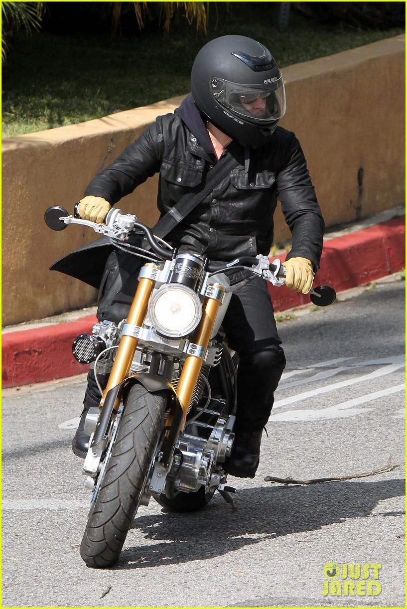 brad pitt rides his motorcycle shiloh zahara get froyo 242816590