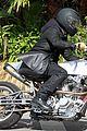 brad pitt rides his motorcycle shiloh zahara get froyo 18