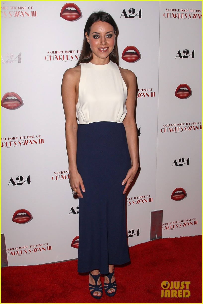 aubrey plaza the mind of charles swan iii premiere 032805272
