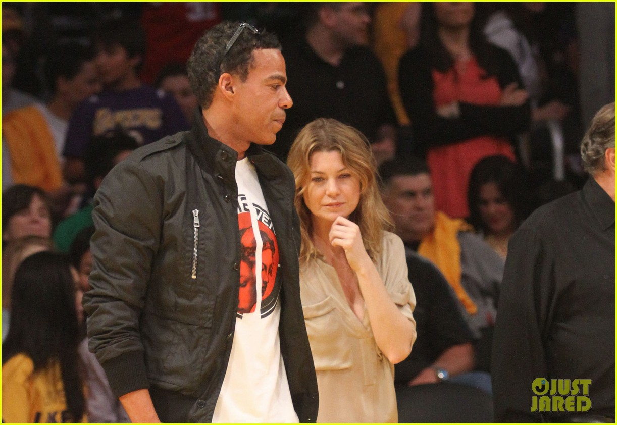 ellen pompeo valentines basketball with hubby chris ivery 01
