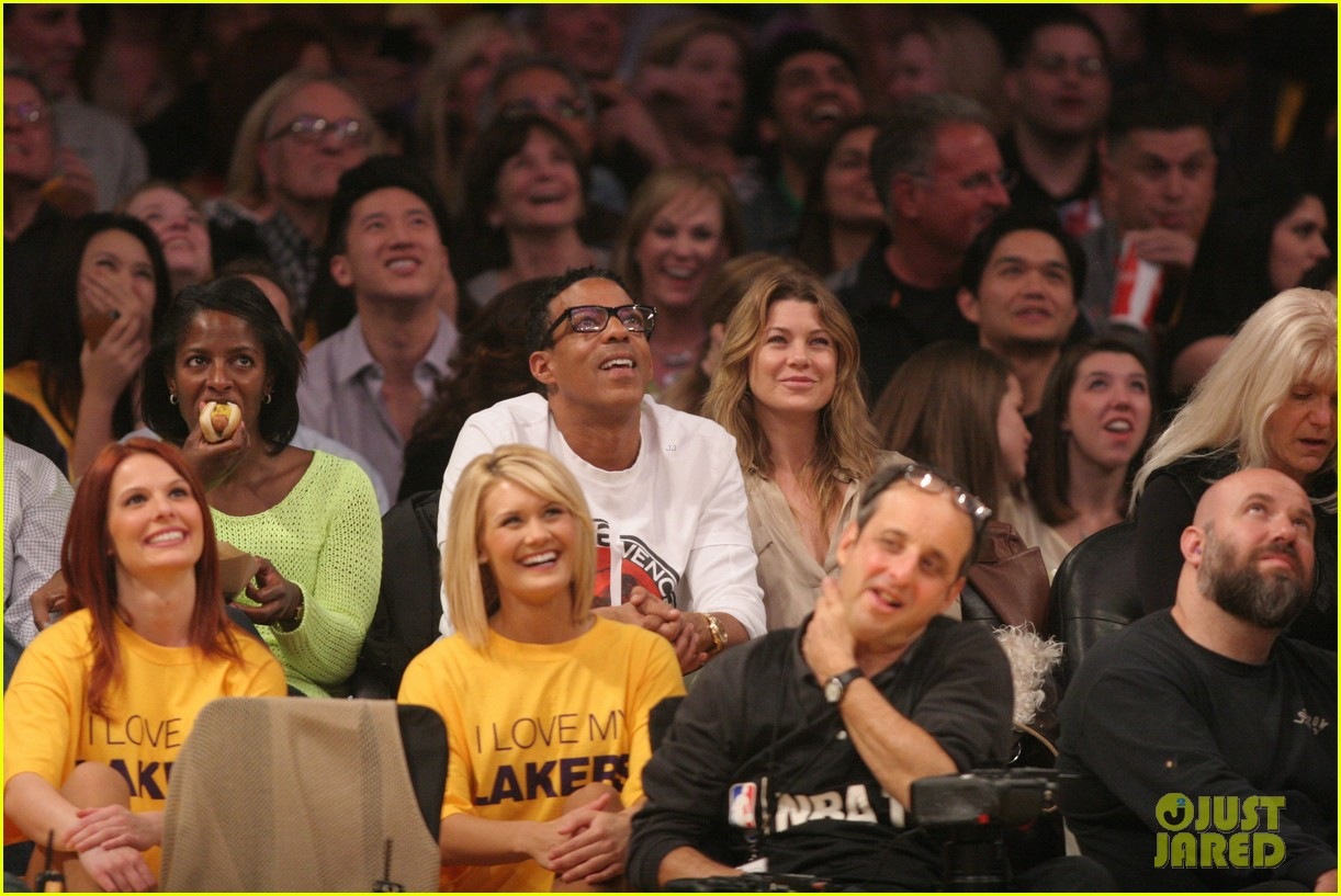 ellen pompeo valentines basketball with hubby chris ivery 022812830