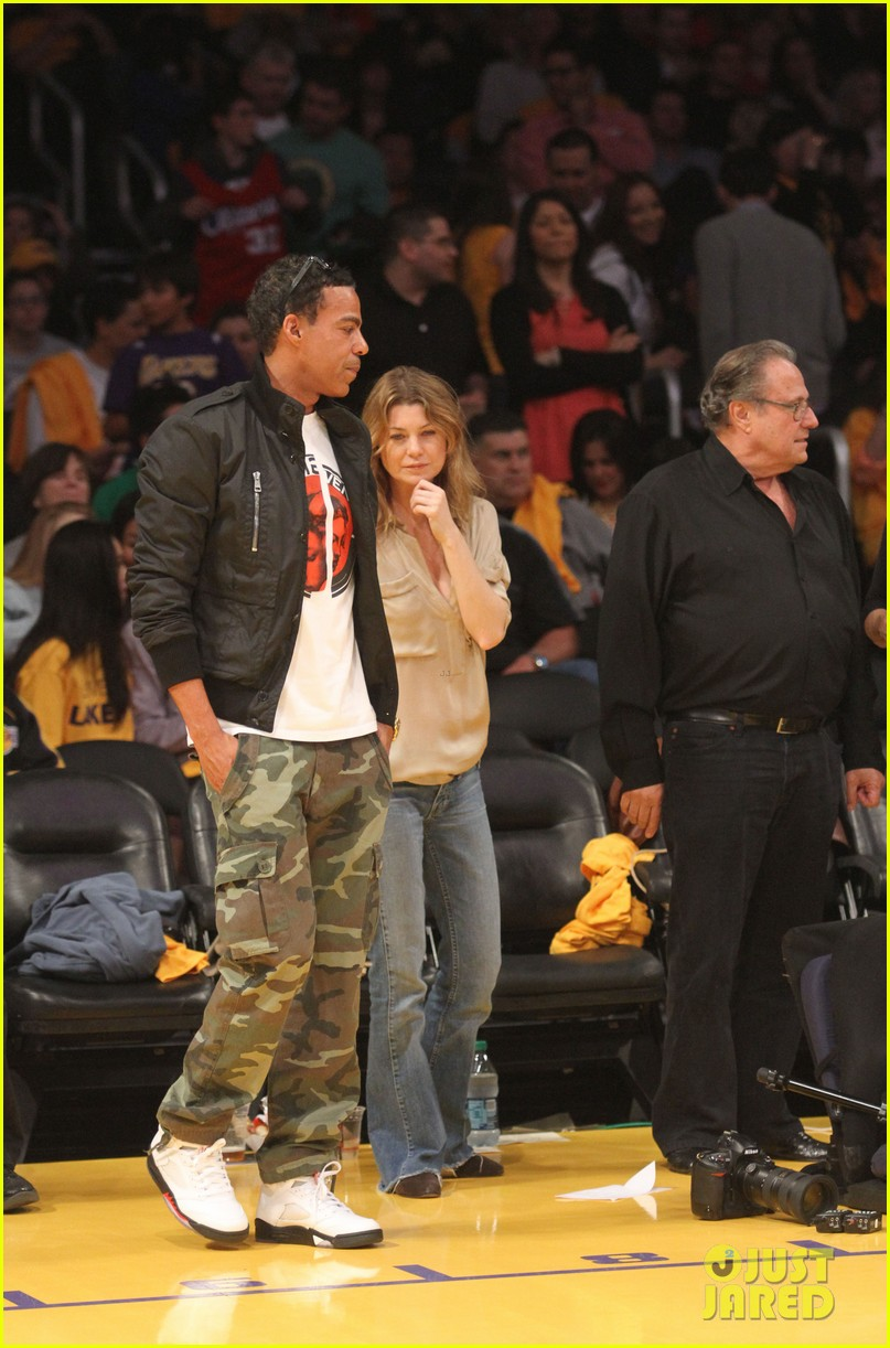 ellen pompeo valentines basketball with hubby chris ivery 032812831