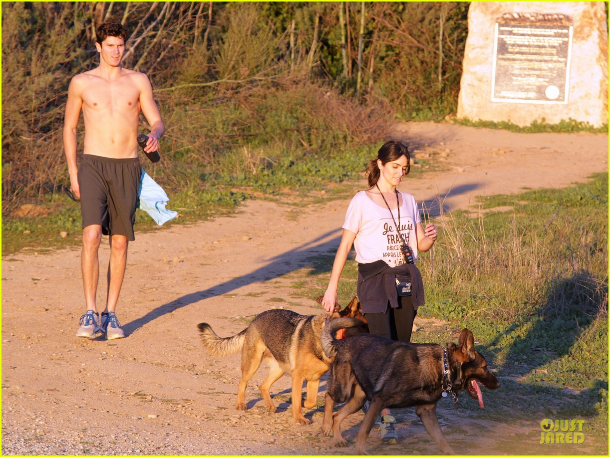 nikki reed super bowl hiking with shirtless brother nathan 02