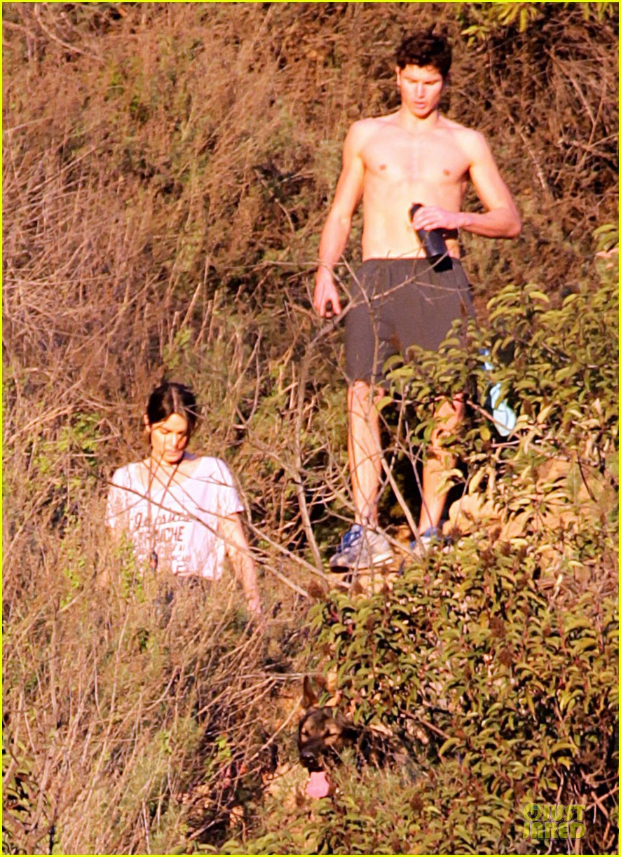 nikki reed super bowl hiking with shirtless brother nathan 042804934