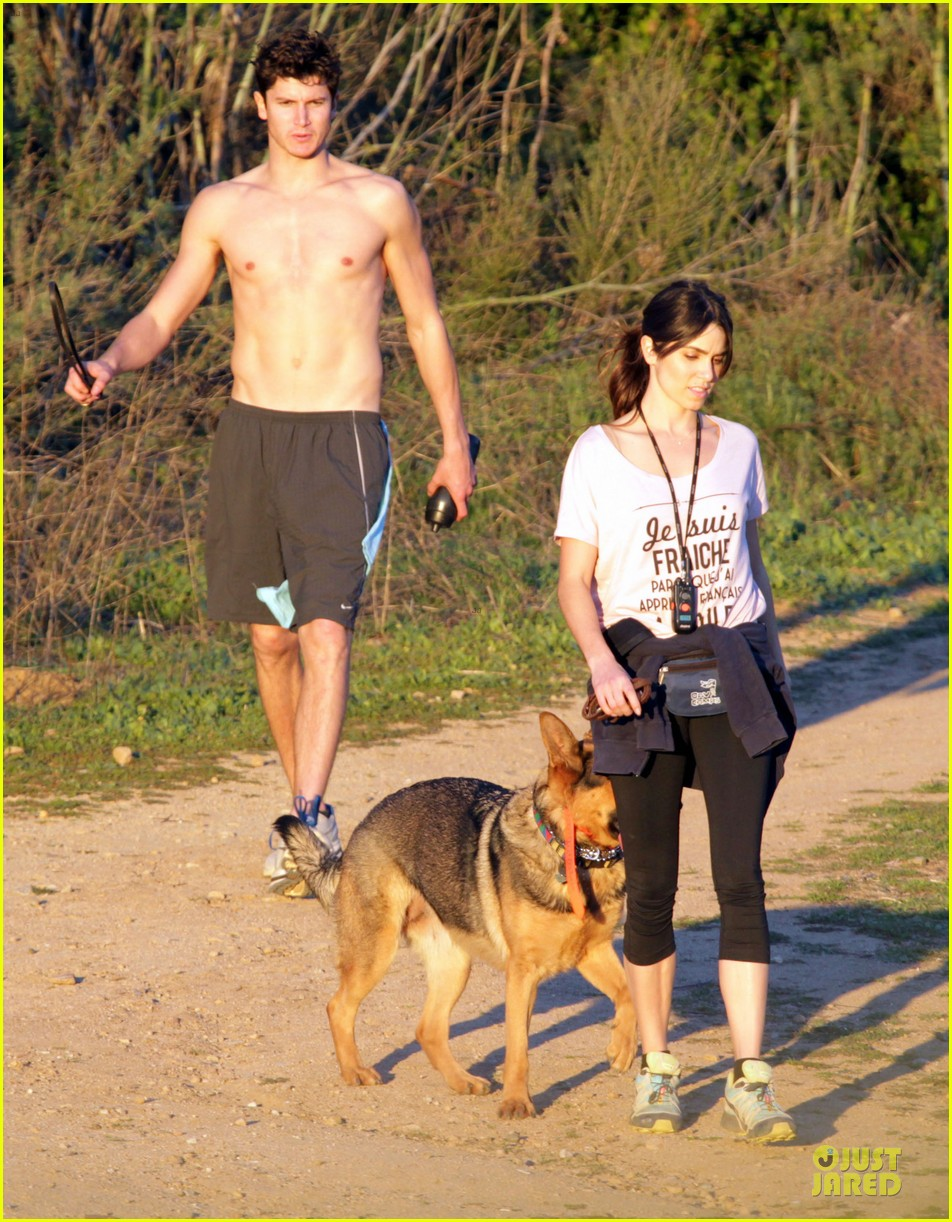 nikki reed super bowl hiking with shirtless brother nathan 152804945