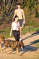 nikki reed super bowl hiking with shirtless brother nathan 14