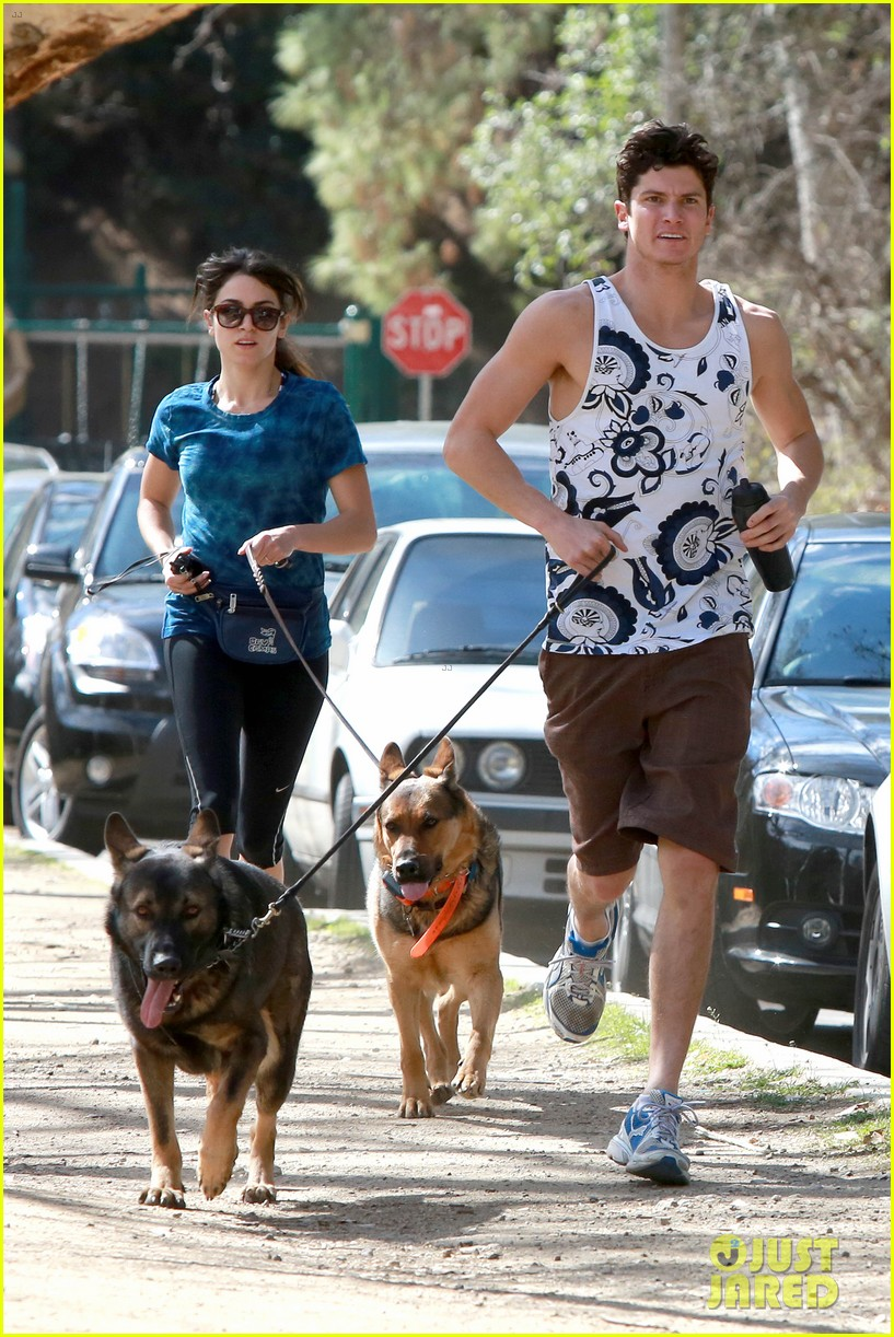 nikki reed dog run with brother nathan 022813904