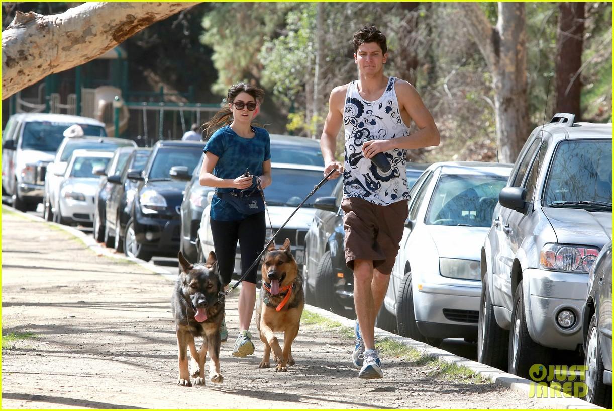 nikki reed dog run with brother nathan 032813905