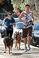 nikki reed dog run with brother nathan 01