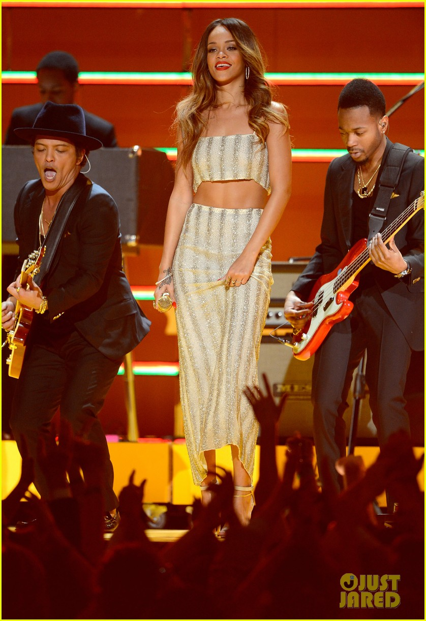 rihanna bob marley tribute at grammys 2013 watch now 022809554
