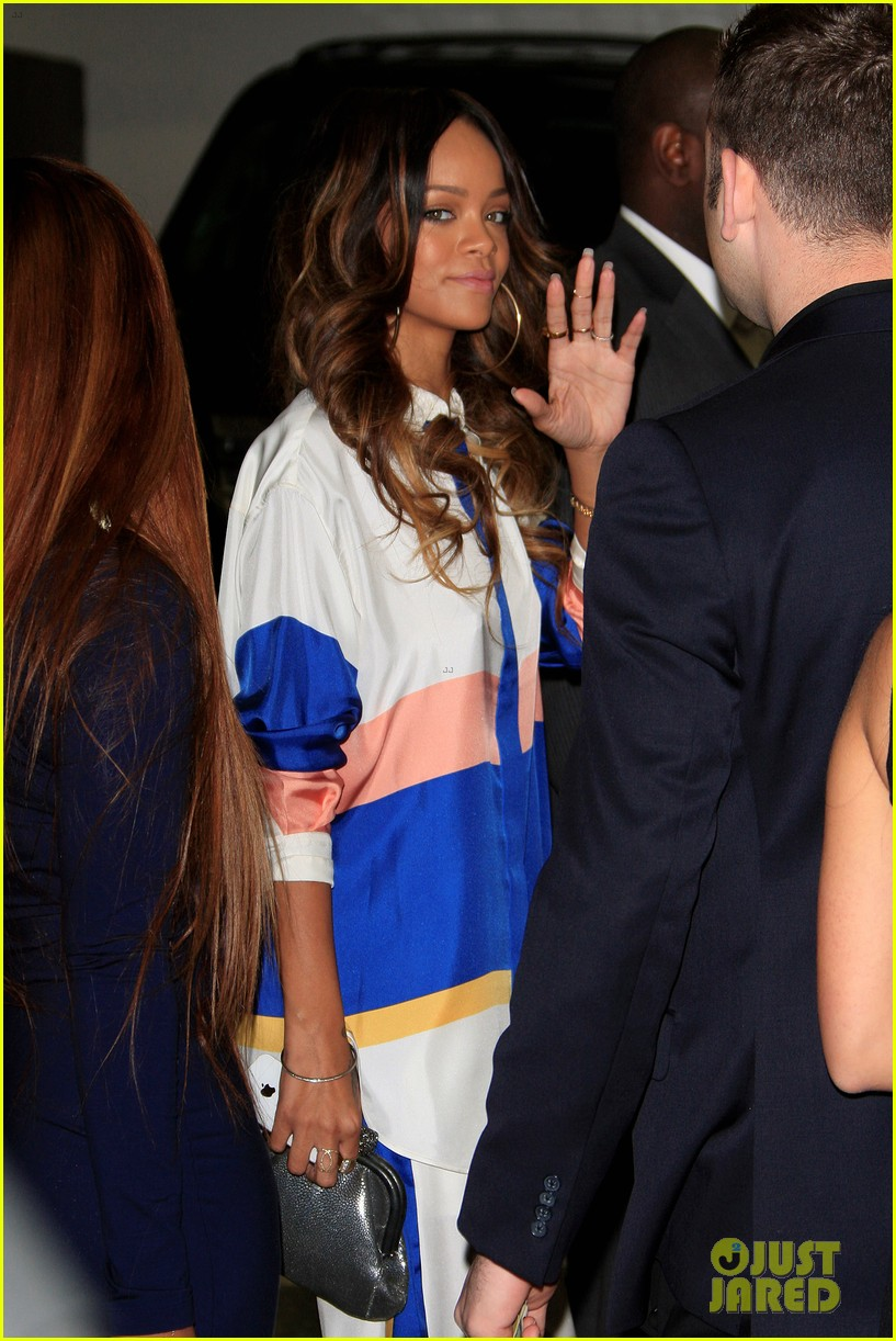 rihanna chris brown rocnation pre grammys brunch 2013 062808245