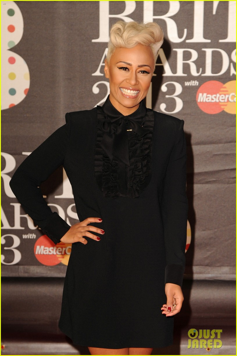 emeli sande brit awards 2013 performance red carpet 06