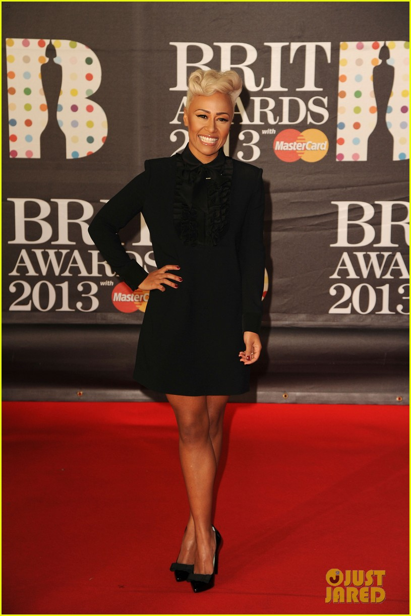 emeli sande brit awards 2013 performance red carpet 072815941