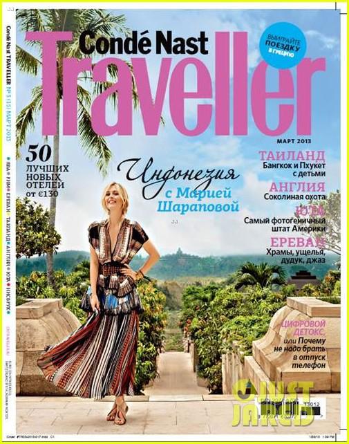 maria sharapova covers conde nast traveller russia 052813760