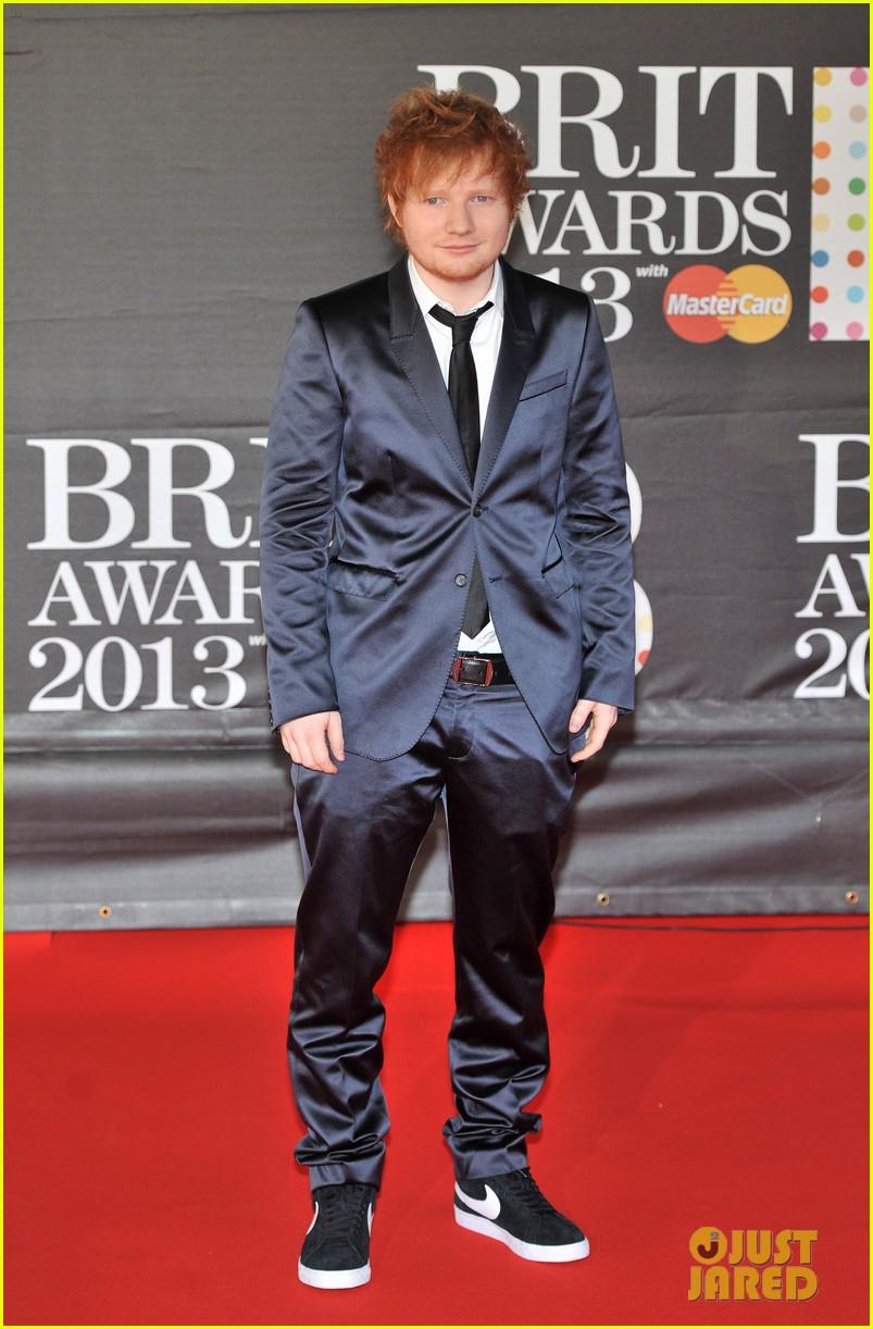 ed sheeran conor maynard brit awards 2013 red carpet 222815866