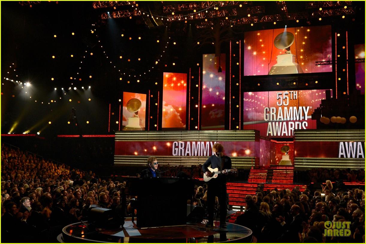 ed sheeran elton john grammys 2013 performance watch now 032809409
