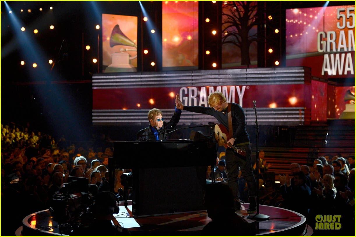ed sheeran elton john grammys 2013 performance watch now 062809412