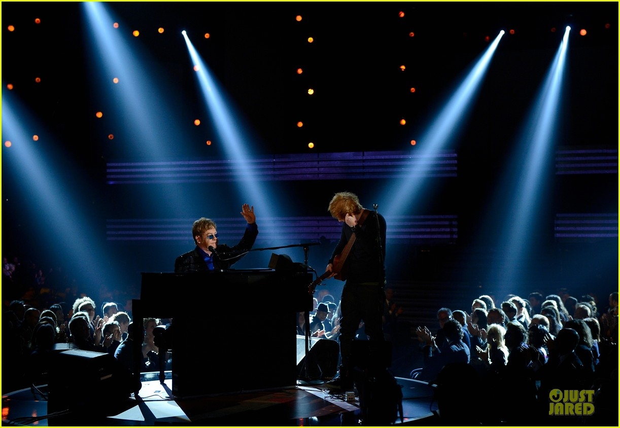 ed sheeran elton john grammys 2013 performance watch now 12