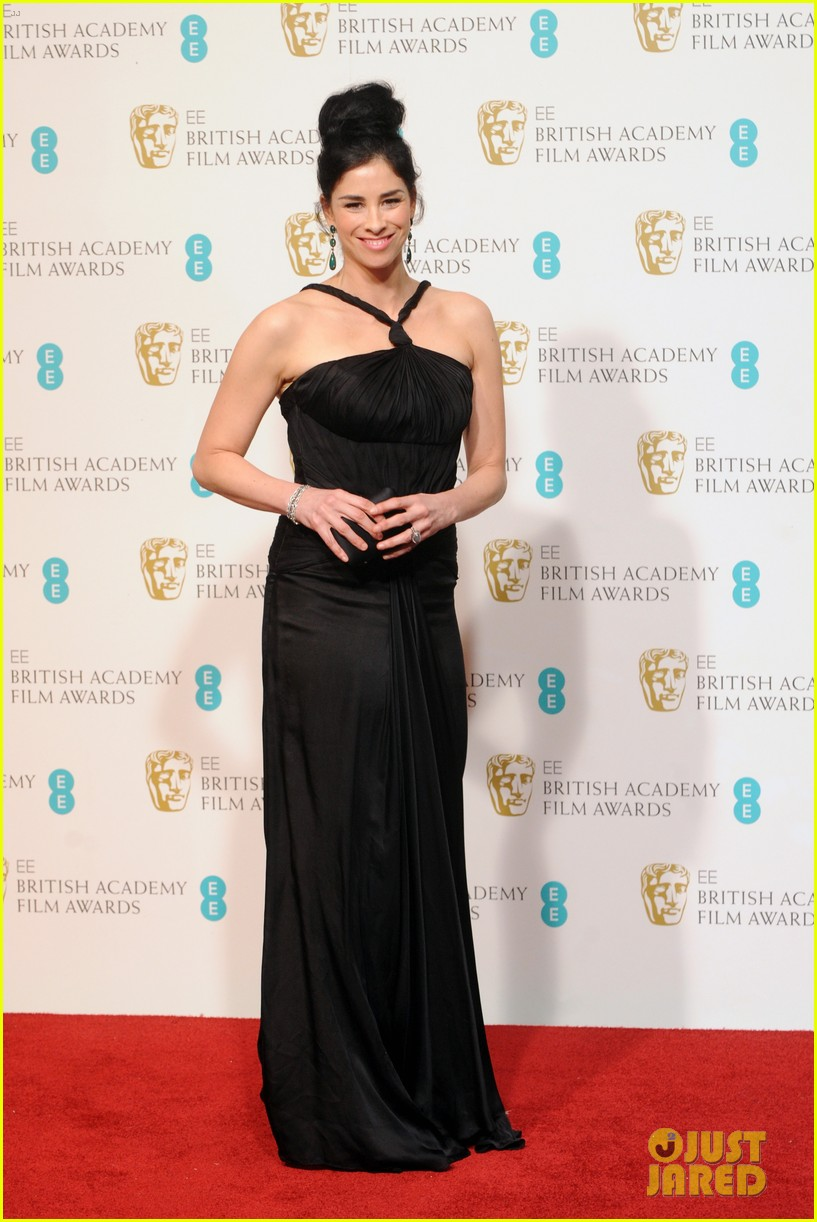 sarah silverman john c reilly baftas 2013 red carpet 01