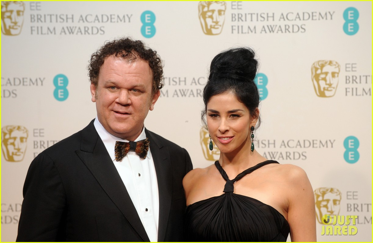 sarah silverman john c reilly baftas 2013 red carpet 06