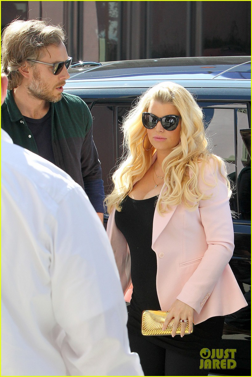 jessica simpson eric johnson valentines lunch lovebirds 04