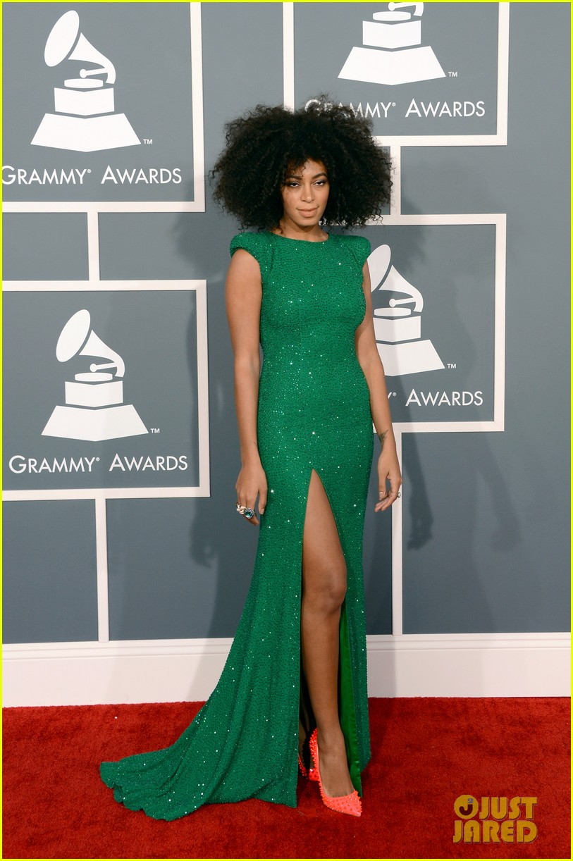 solange knowles grammys 2013 red carpet 052809401