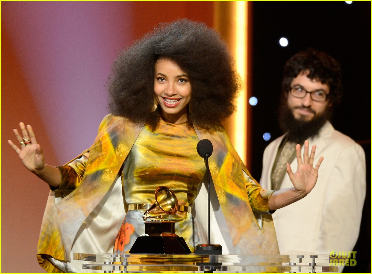 esperanza spalding grammys 2013 red carpet 112809270