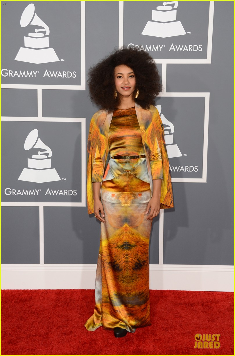 esperanza spalding grammys 2013 red carpet 132809272