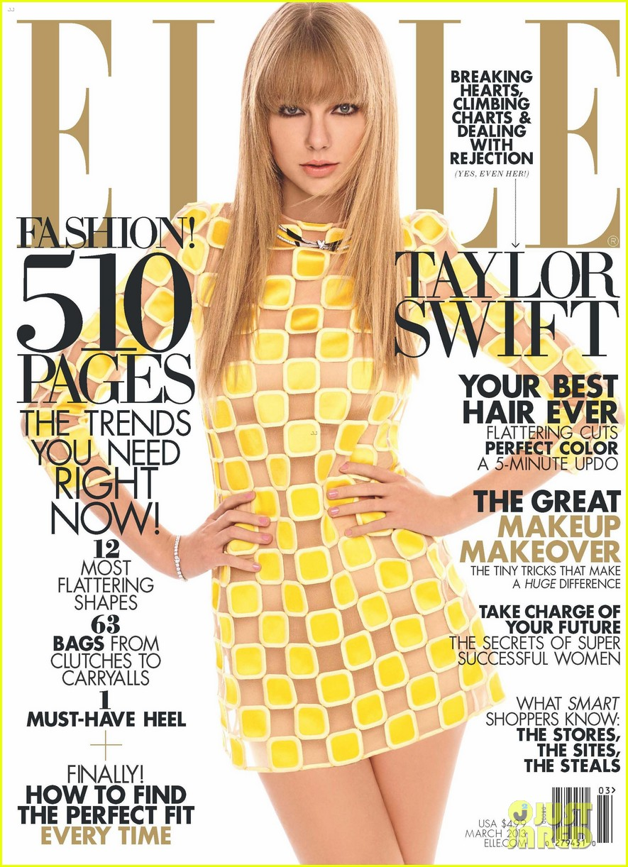 taylor swift covers elle march 2013 05