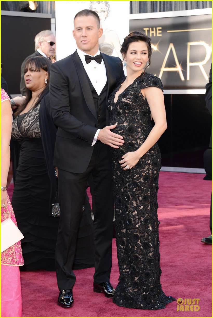 pregnant jenna dewan channing tatum oscars 2013 red carpet 012819017
