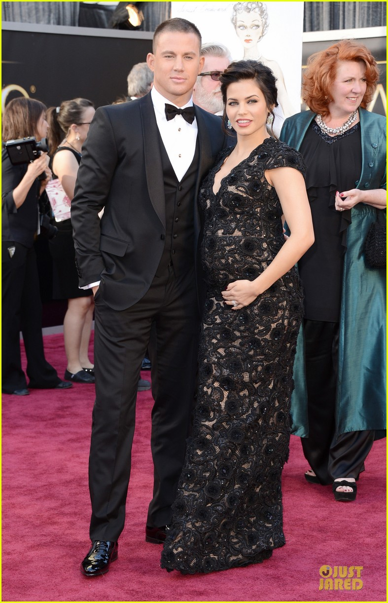 pregnant jenna dewan channing tatum oscars 2013 red carpet 03