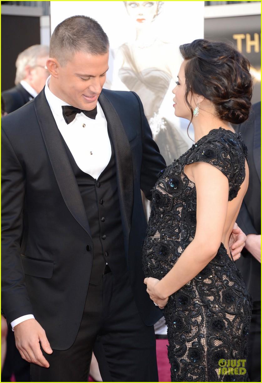 pregnant jenna dewan channing tatum oscars 2013 red carpet 062819022