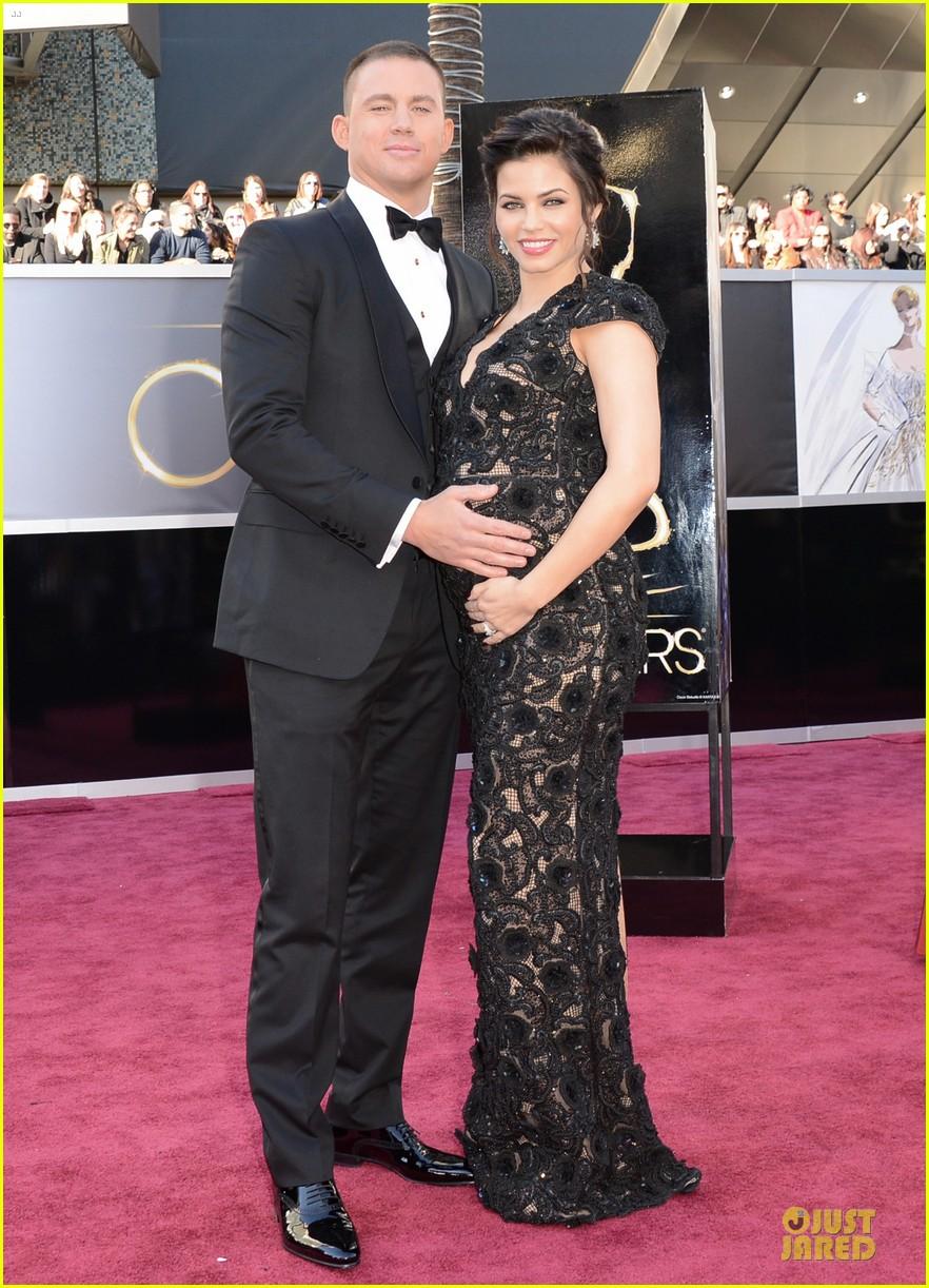 pregnant jenna dewan channing tatum oscars 2013 red carpet 092819025