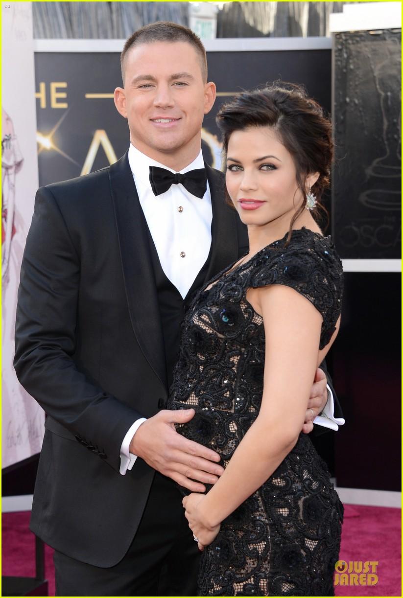 pregnant jenna dewan channing tatum oscars 2013 red carpet 13