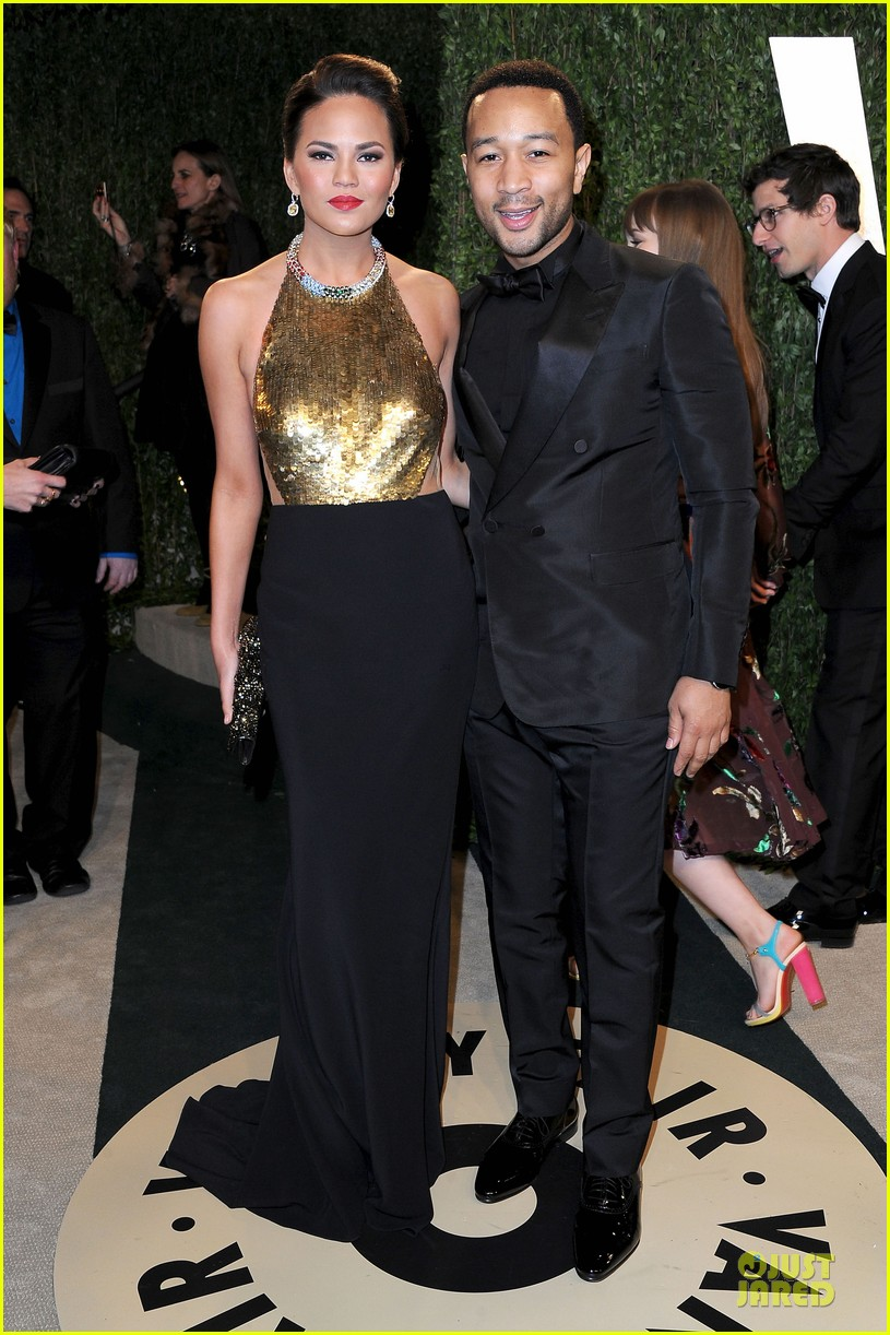 chrissy teigen john legend vanity fair oscars party 2013 01
