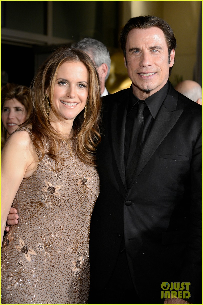 john travolta kelly preston vanity fair oscars party 2013 02