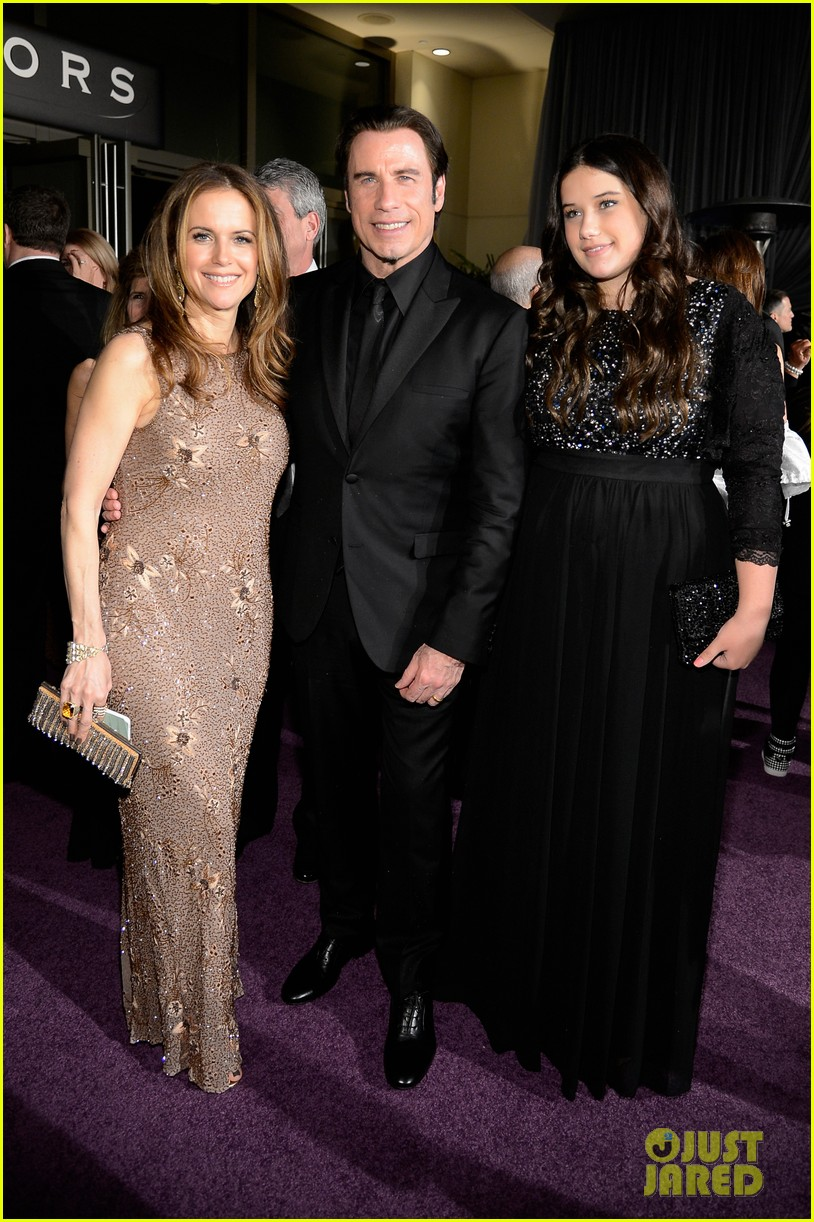 john travolta kelly preston vanity fair oscars party 2013 05