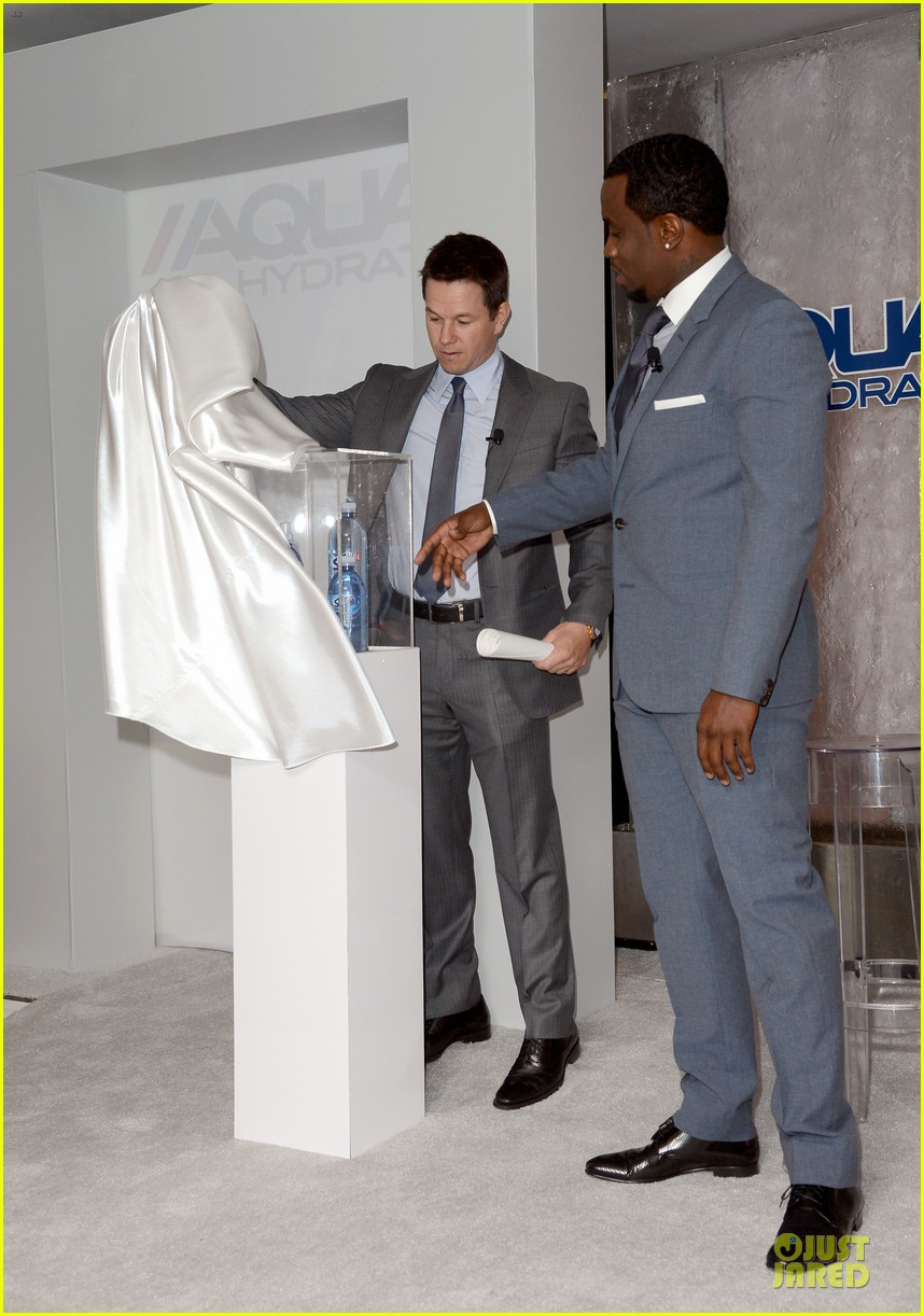 mark wahlberg sean combs aquahydrate press conference 032822012