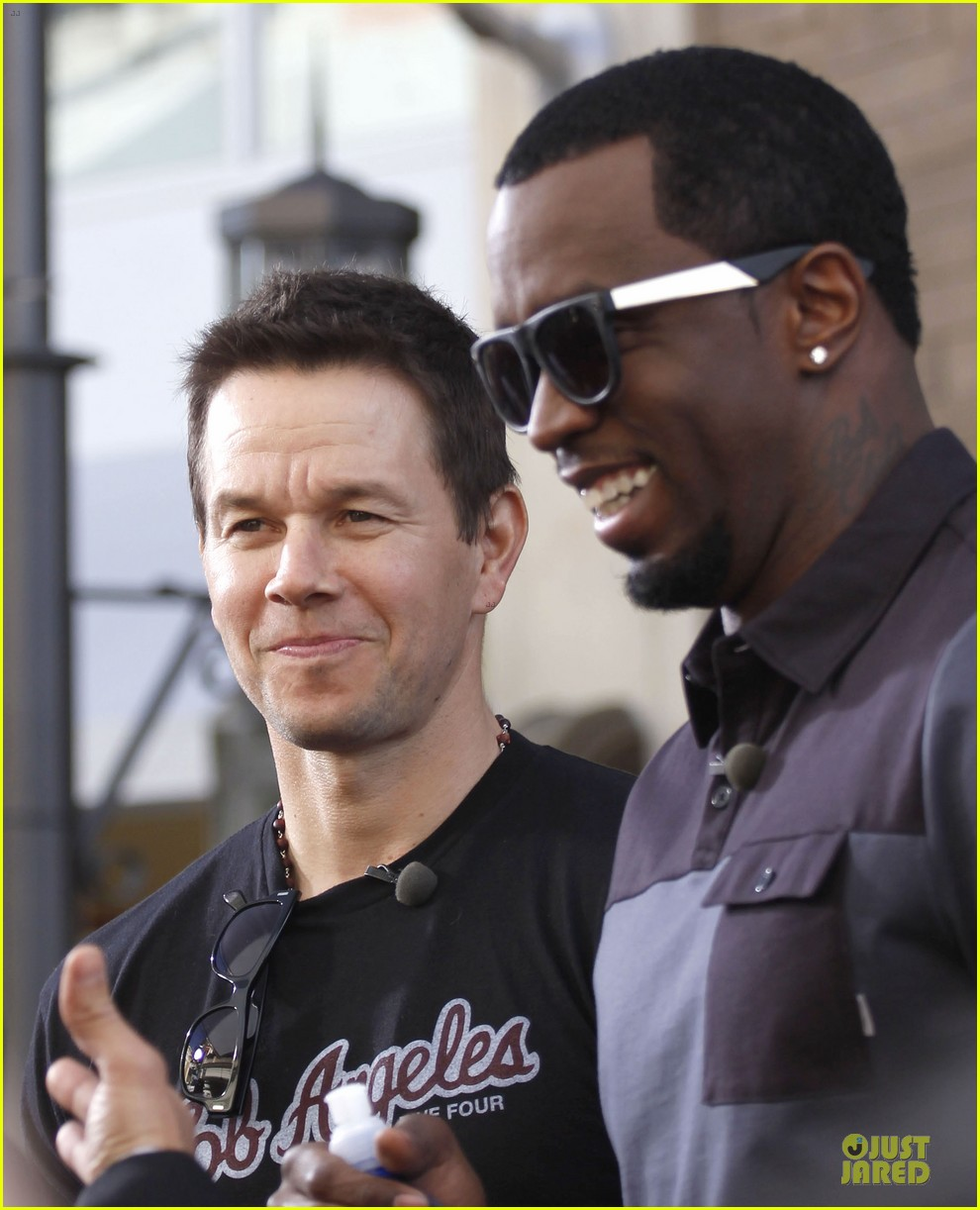mark wahlberg sean combs aquahydrate press conference 042822013