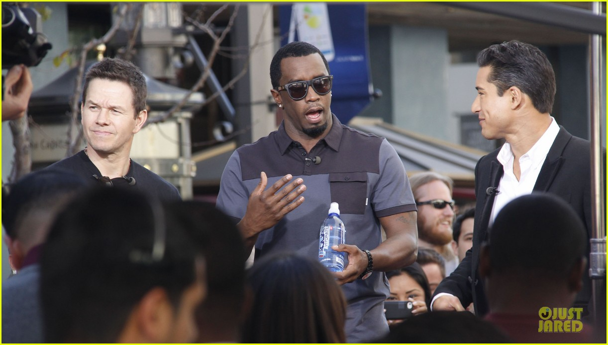 mark wahlberg sean combs aquahydrate press conference 052822014