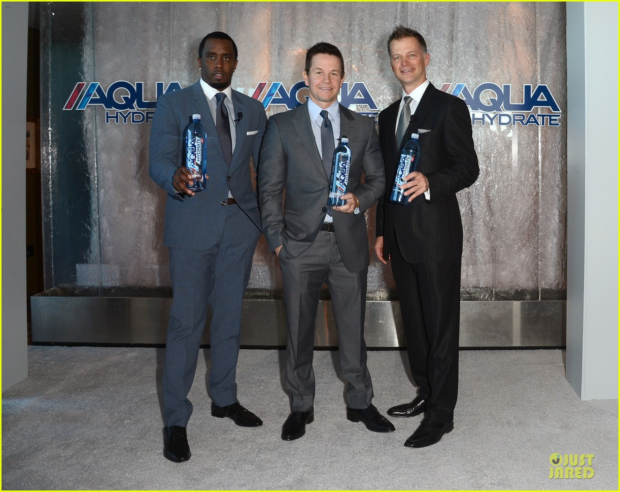 mark wahlberg sean combs aquahydrate press conference 112822020