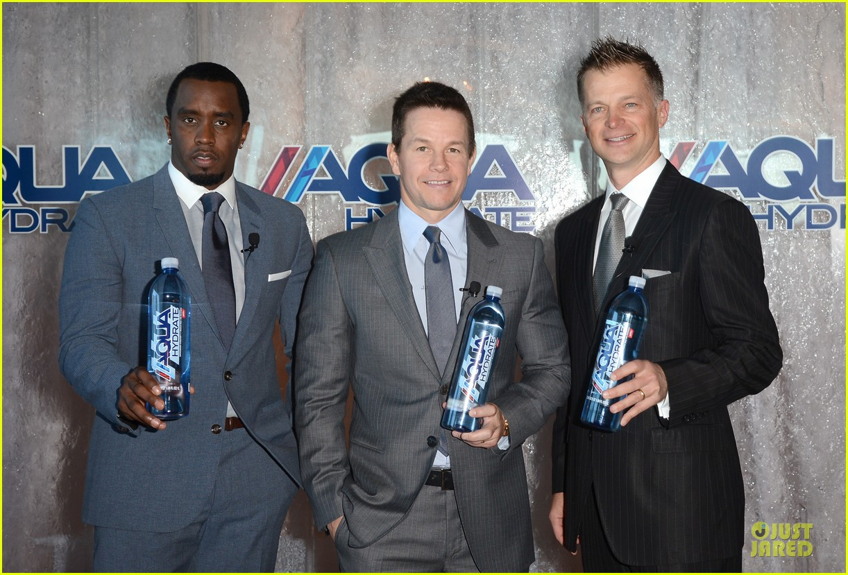 mark wahlberg sean combs aquahydrate press conference 232822032