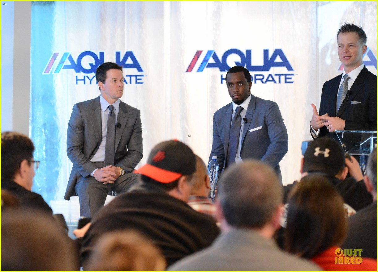 mark wahlberg sean combs aquahydrate press conference 292822038