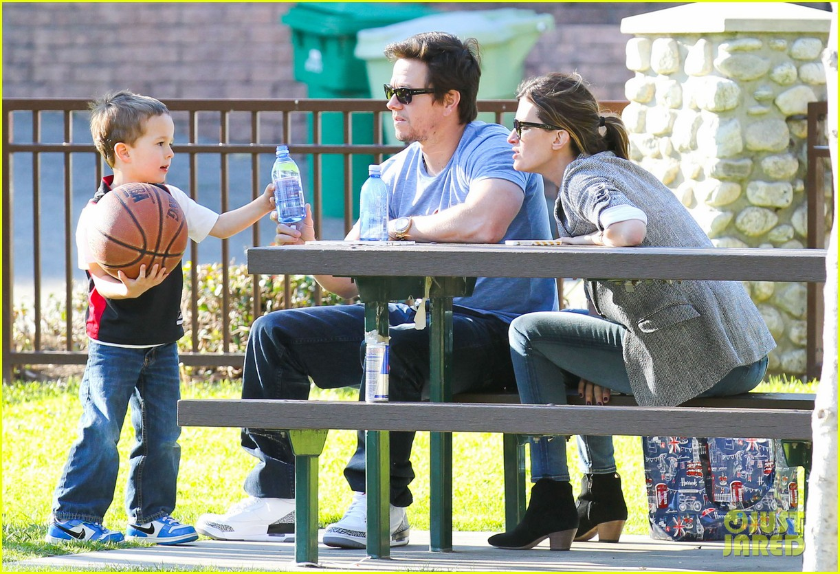 mark wahlberg basketball with brendan 152812204